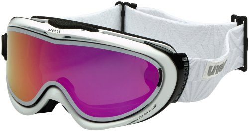 UVEX Skibrille comanche TOP, White/Ltm Pink, One size, S5512111026