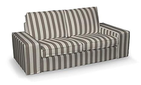 FRANC-TEXTIL 701-702-33 Kivik 2-Plazas Sofá funda, sofá Kivik 2-plazas, Cotton Panama, gris/plata