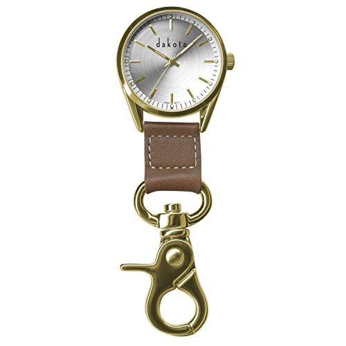 dakota-watch-company-classic-dress-clip-watch-with-gold-case-leather-fob-by-dakota-watches