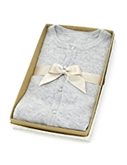Pure Cashmere Crew Neck Cardigan in Gift Box