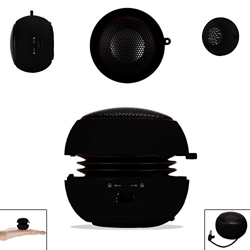 Black 3.5mm Audio Jack Portable Plug and Play Hamburger Rechargeable Mini Wired Speaker For NOKIA X / XL Mobile Cellular Cell Phone