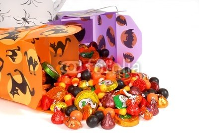"Wallmonkeys Peel and Stick Wall Decals - Halloween Candy in Chinese Containers - 36""W x 24""H Removable Graphic"