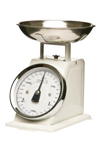 Premier Housewares Balance de cuisine mécanique Bol inox Blanc 3 kg