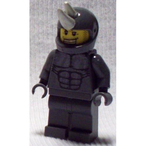 Custom Lego Amazing ultimate Spiderman Enemy Rhino Minifigure 2012