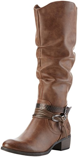 Marco Tozzi 25531, Stivali alti con imbottitura leggera Donna, Marrone (Cognac Ant.Com 372), 37 EU