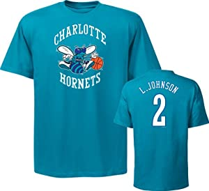 NBA New Orleans Hornets Mens Larry Johnson 2 T-Shirt by Majestic