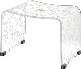 リス『美しいリーフ柄の風呂椅子』 ユトハ バスチェア S クリア