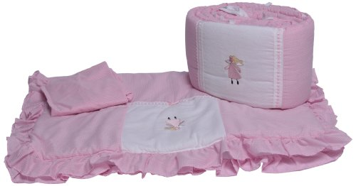 Baby Doll Bedding Gingham Port-A-Crib Bedding Set, Fairy Tale front-789247