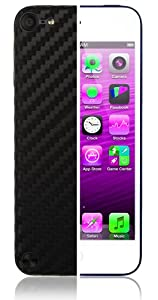 Skinomi TechSkin - Apple iPod Touch 5th Generation 5G Screen Protector Ultra Clear Shield + Black Carbon Fiber Full Body Protective Skin + Lifetime Warranty