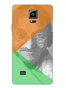 Mahatma Gandhi - Father Of The Nation - Independence Day - Hard Back Case Cover for Samsung Note4 - Superior Matte Finish - HD Printed Cases and Covers