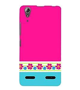 Classic Pink Color Design 3D Hard Polycarbonate Designer Back Case Cover for Lenovo A6000 Plus