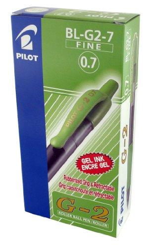 Pilot G207 - Bolígrafo roller de gel (0,7 mm, 12 unidades), color verde