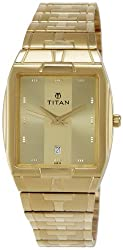 Titan Karishma Analog Gold Dial Mens Watch - NE9153YM01A