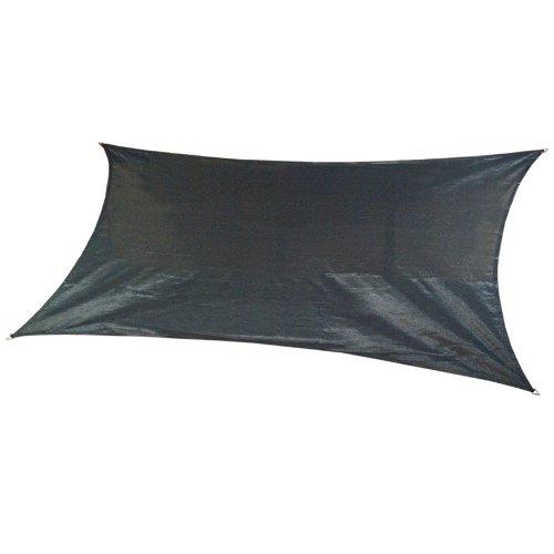 coolaroo custom rectangle shade sail charcoal canopy kings
