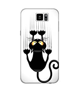 The Fappy Store black-cat-cartoon plastic back case cover for Samsung Galaxy S6