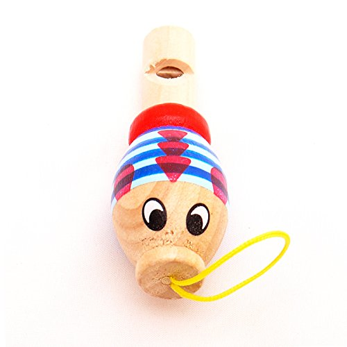 Mini Wooden Animal Whistle Fish T00075