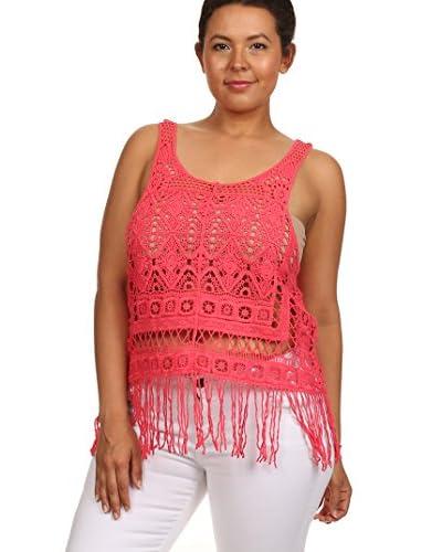 C.O.C. Plus Women's Fringed Crochet Tank