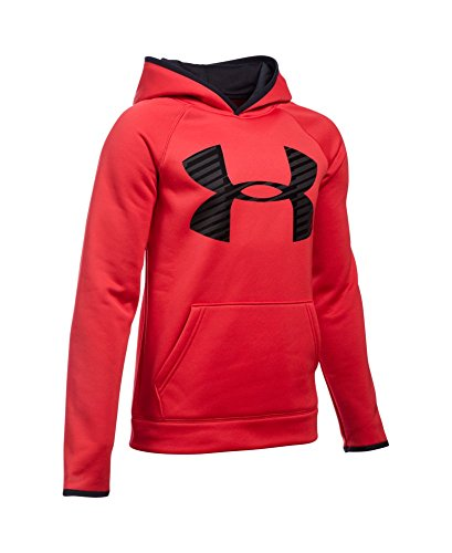 Under Armour Boys' Storm Armour Fleece Highlight Big Logo Hoodie, Red (600), Youth X-Large