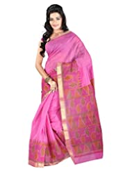Roopkala Silks & Sarees Cotton Silk Saree With Blouse Piece (Ga-1117 _Pink)