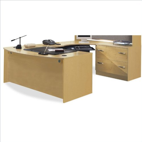 Executive Desk Light Oak: Bush Furniture Series C Light Oak U-Shaped Desk Purchase