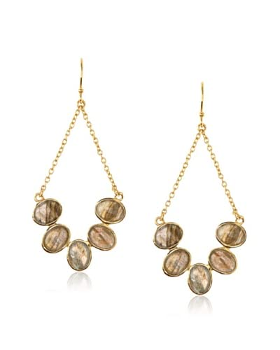 Argento Vivo Labradorite Curved Chain Drop Earrings As You See