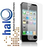 Halo Screen Protector Film Clear Matte (Anti-Glare) for iPhone 4G 4 (3-Pack) - Premium Japanese Screen Protectors