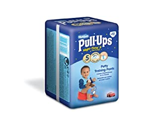 Huggies Pull Ups Nightime Potty Training Pants for Boys - Medium (11-18 kg), 12 x 3 Packs (36 Pants)