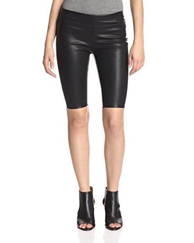 BLANKNYC Women's Faux Leather Biker Short