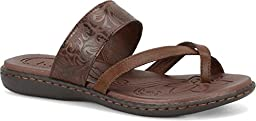 b.o.c Women\'s Bellisi Coffee Tooled Leather Sandals 9 B(M) US