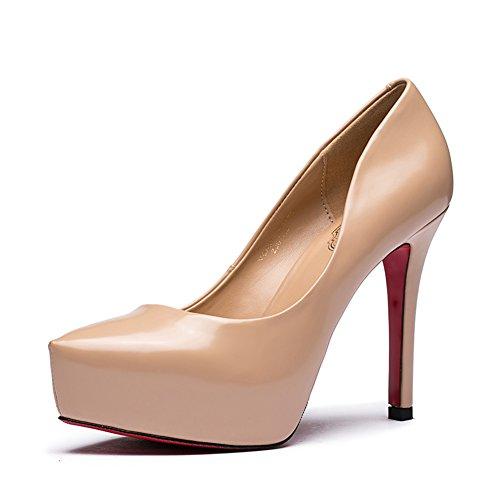 Vernice signora poco profonda caduta moda scarpe a punta/Scarpe tacco alto a spillo-B Lunghezza piede=23.3CM(9.2Inch)