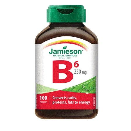 Vitamin B6 (Pyridoxine) 250 Mg-100 Tablets Brand: Jamieson Laboratories