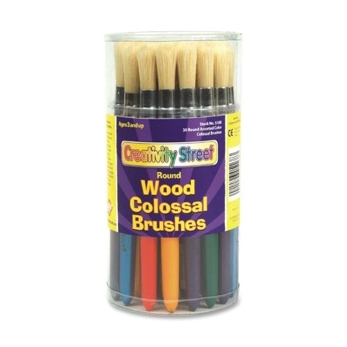 Chenille Kraft Company Wood Brushes, 30/ST, Assorted SKU-PAS944508