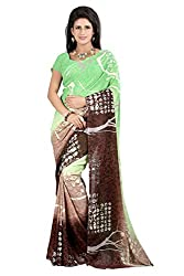 Pruthu Georgette Sari with Unstitched Blouse (pmadh_001_Multicolor)