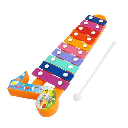 Como Plastic Sticks 10 Tone Music Beat Percussion Toy Multicolor Xylophone