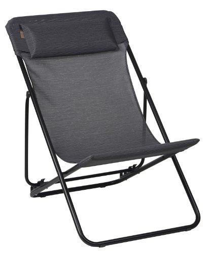 Lafuma LFM1909-6897 Relax-Liegestuhl, klappbar, Maxi Transat, grau jetzt bestellen