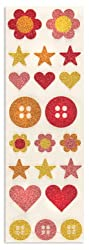 Martha Stewart Crafts Button Glitter Stickers By The Package