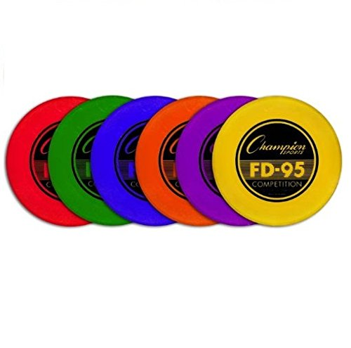 Champion Sports Competition Plastic Frisbee Flying Disc - 95g - Colors May Vary