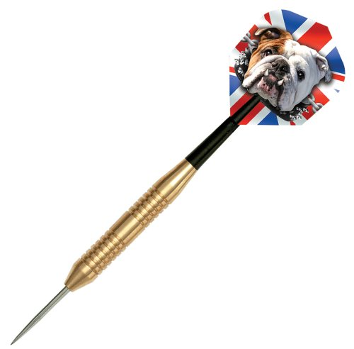 Dart World Steel Tip BullDog Brass Dart Set, 24gm (Bulldog Dart Board compare prices)