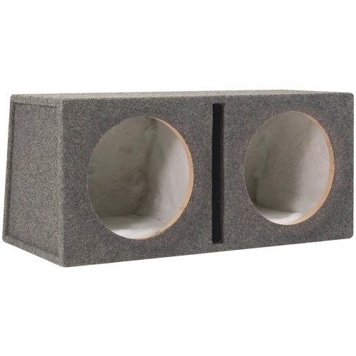 Scosche Sev152Cc 15-Inch Slot Ported Dual Subwoofer Enclosure (Grey/Black)
