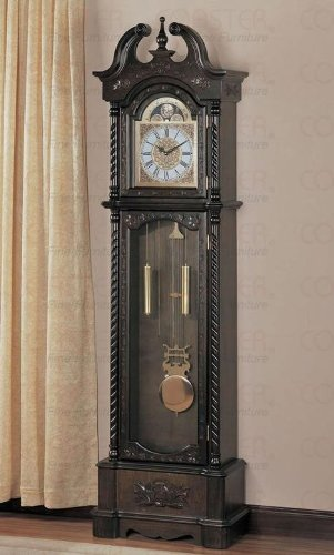 Deep Brown Finish Grandfather Clock - Coaster 900721