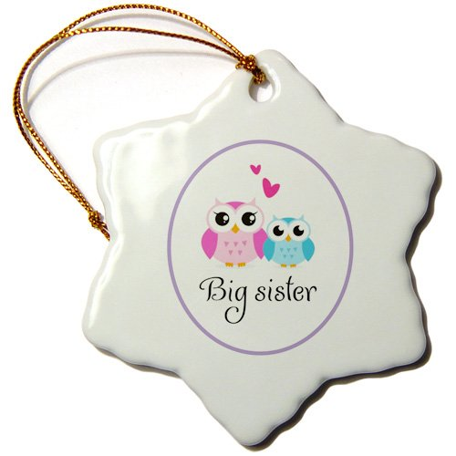 Big Sister Owl Snowflake Ornament