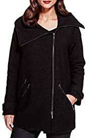 Per Una Speziale Pure Wool Large Collar Biker Coat [T62-6529J-S]