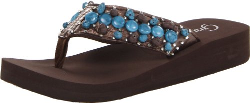 Grazie Women'S Scorch Flip Flop,Brown,10 B Us front-628491