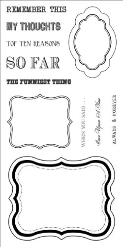 Fiskars 103450-1001 Teresa Collins Simple Stick Rubber Stamps, Journal Tags, 4 by 8-Inch