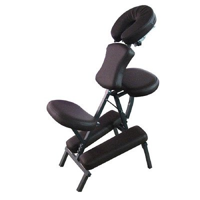 Sivan Health and Fitness Portable Massage Folding Chair, Chocolate