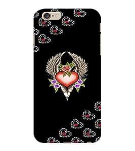 ColourCraft Love Heart Design Back Case Cover for APPLE IPHONE 6 PLUS