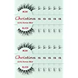 24 Packs Eyelashes - #DW (Christina). (Color: 24 Pairs)