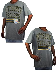 Mens NFL Pittsburgh Steelers Athletic Short Sleeve T-Shirt (Vintage Look) by NFL