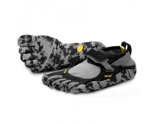 VIBRAM Fivefingers Men's KSO Running Shoes, Black/Grey, UK7