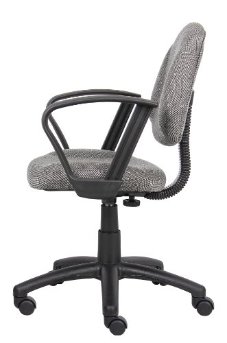 Boss fice Products B317 GY Perfect Posture Delux Fabric